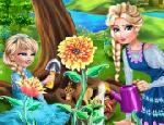 Elsa Çiçek Ekiyor