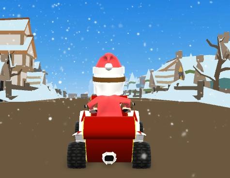 Noel Baba Araba Sürüyor
