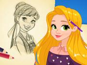 Rapunzel Çizim Yap