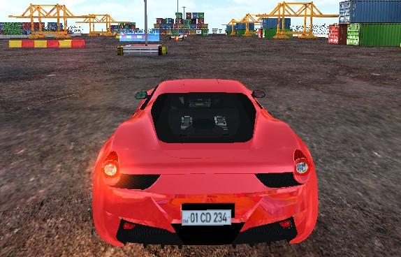Yeni Spor Araba Park Etme 3D